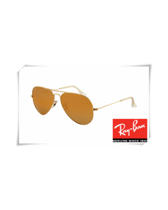 Ray Ban RB3025 Aviator Gold Frame Crystal Honey Lens