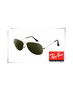 Cheap Fake Ray Ban RB3362 Cockpit Sunglasses Gunmetal Frame Crystal Green Lens Wholesale