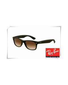 Ray Ban RB 2132 New Wayfarer Sunglasses Black Frame Brown Gradient Lens