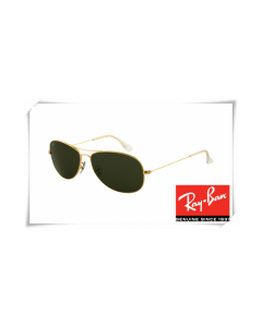 Ray Ban RB3362 Cockpit Sunglasses Arista Frame Crystal Green Lens
